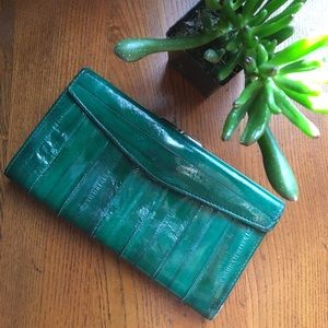 Amazing Green Eel Skin Wallet